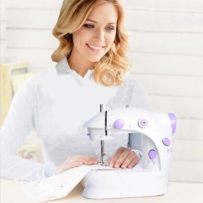 Mini Portable Hand-held Clothes Sewing Machine Home Travel LED Electric DIY 6