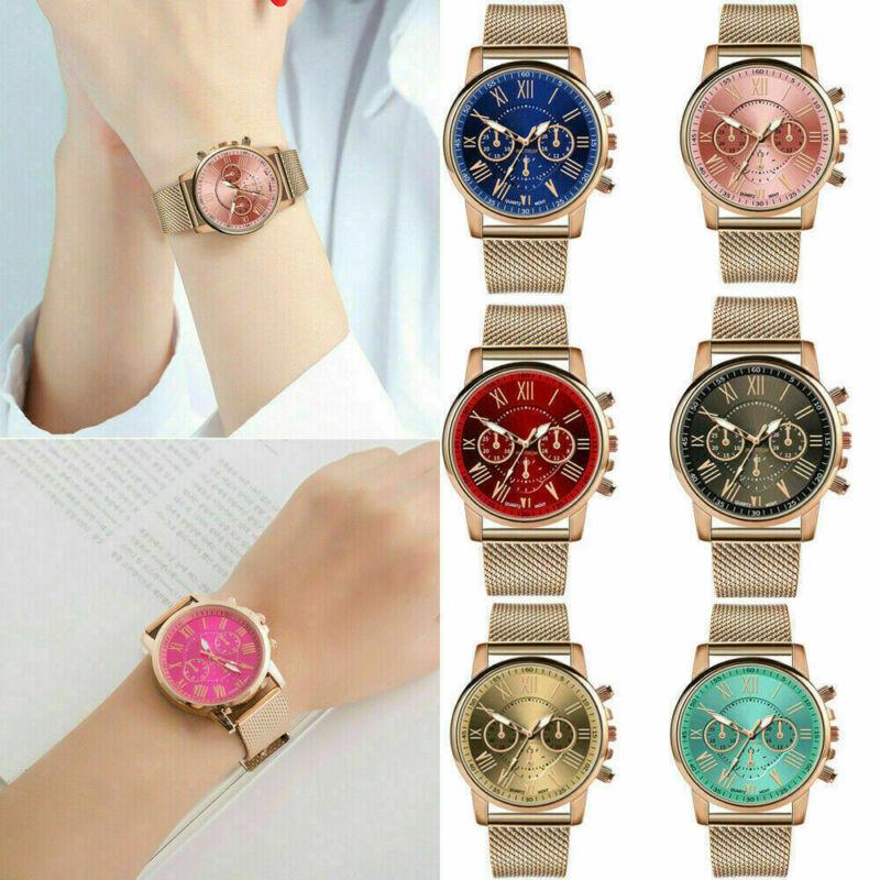 New Women Watch Stainless Steel Analog Quartz Dress Bracelet Wrist Watch JP 5