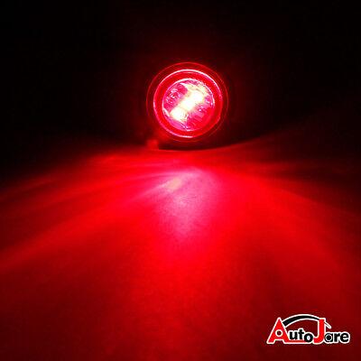 """20X Red + Amber LED Bullet Side Marker Light Flush Mount Truck Trailer 12V 3/4"""" 11"""