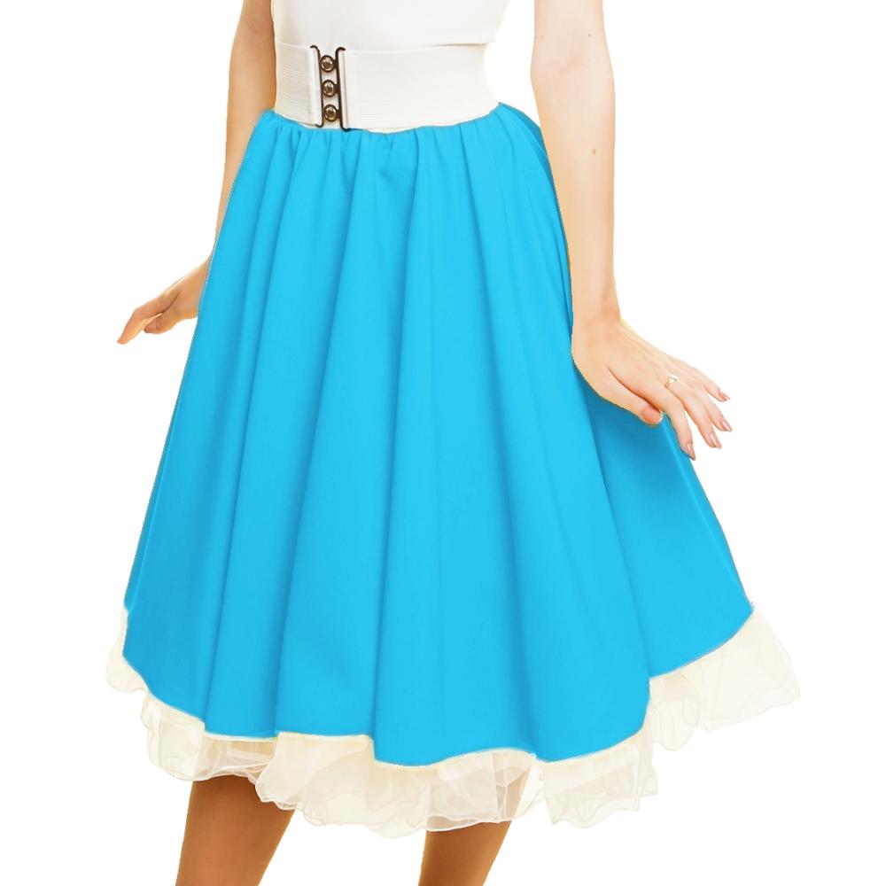 GIRLS SANDY SKIRT Plain 1950s Costume Circle Skirt Rock and Roll GREASE COSTUME 5