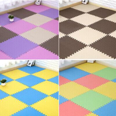 4 Tiles Home Yoga Gym Fitness Interlock EVA Foam Floor Mat Puzzle Baby Kids Play 12