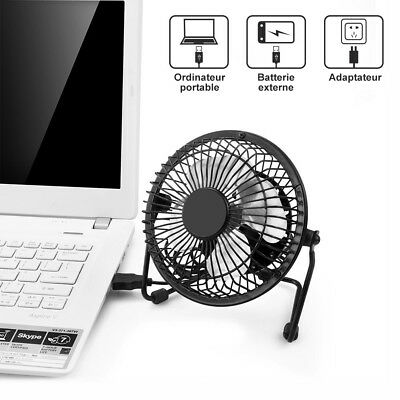 USB Ventilateur Mini Bureau Table Portable Silencieux Ordinateur PC Inclinable 4