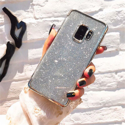 Bling Shockproof Glossy Glitter Case Cover For Samsung Galaxy Note 9 S8 S9 Plus 6