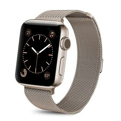 For iWatch Apple Watch Series 3/2/1 Watch Metal Band Strap Adjustable 38mm/42mm 7