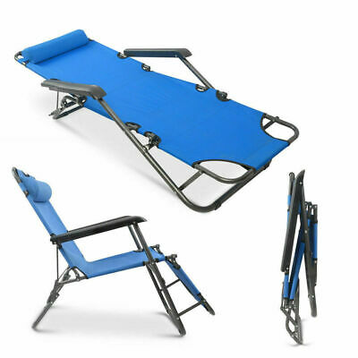 Tremendous Outdoor Portable Blue Folding Chaise Lounge Chair Pool Lawn Gmtry Best Dining Table And Chair Ideas Images Gmtryco