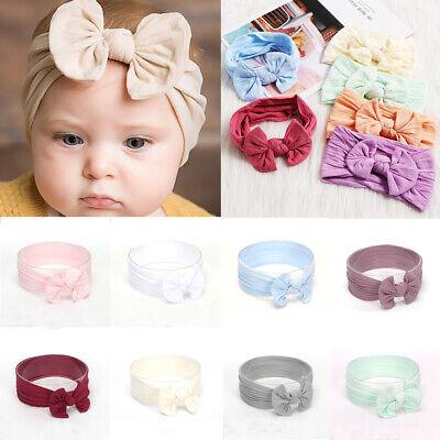 Baby Toddler Girls Kids Bunny Rabbit Bow Knot Turban Headband Hair Band Headwrap 12