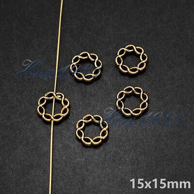 Wholesale Tibetan Silver Metal Charms Pendants Loose Spacer Beads Jewelry Making 5