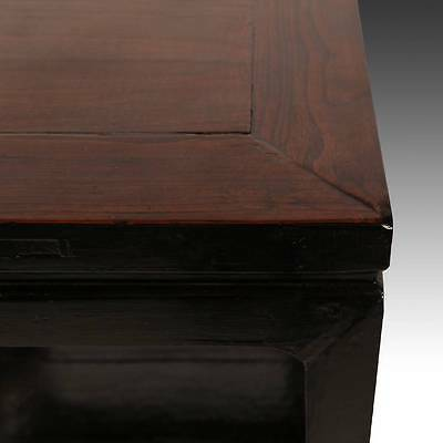 Antique Chinese Qing Side Table Lacquered Elm Wood Furniture China 19Th C. 4
