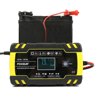 8 Amp Intelligent Car Battery Charger Pulse Repair Starter 12V/24V AGM/GEL UK 10