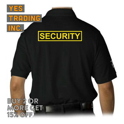 Mens Security Polo Shirt Law Enforment Police Shirts Safety Work Uniform Guard 3