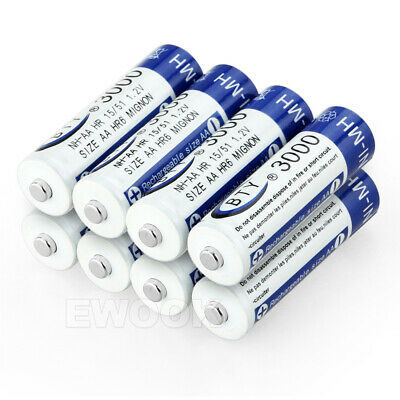 OZ 4-20X BTY AA Rechargeable Battery Recharge Batteries 1.2V 3000mAh Ni-MH 9