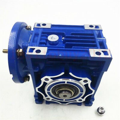 Worm Gearbox 56B14 Flange Reducer 10:1 15:1 30:1 Stepper Asynchronous Motor 6