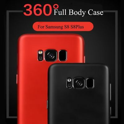 For Samsung Galaxy S8 / S8 Plus 360° Full Body Hard Case Cover+Screen Protector 3