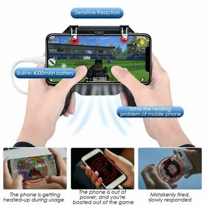 Mobile Games Cooling Fan Gamepad Joystick Controller For PUBG 4.7-6.5'' Phone 7