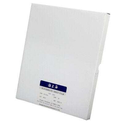 Shanghai 8x10 Black & White B/W ISO 100 Sheet Film 25 Sheets 09-2021 Freshest 3