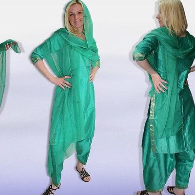 Salwar Kameez + Chiffon-Schal, sehr edel! Gr.42,INDIEN,Bollywood sari kostüm 4T4 2
