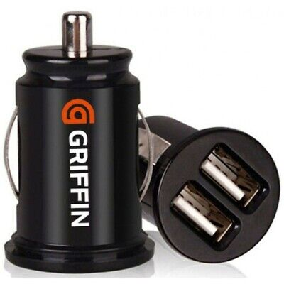 2 Port Dual Twin USB In Car charger cigarette lighter adapter 4 iPhone, Samsung 2
