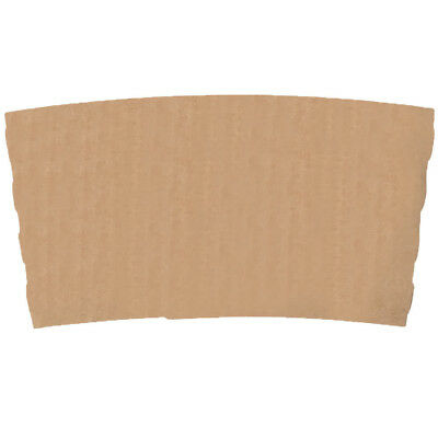 100 ct. 10 - 20 Oz. Eco Disposable Brown Coffee Cup Sleeves / Jacket / Clutch 6