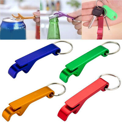 10x Bottle Opener Key Ring Chain Aluminum Keychain Metal Beer Bar Tools Claw NEW 8