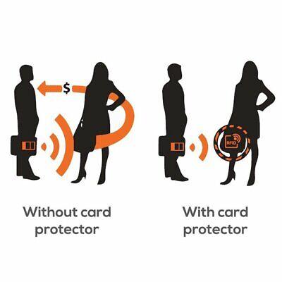 5 x Protector RFID Funda Anti Robo Tarjeta Crédito Pasaporte Cartera 4