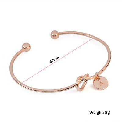 Personalized Initial Knot Bracelet Monogram Bracelet Bridesmaid Letter Bracelet 6