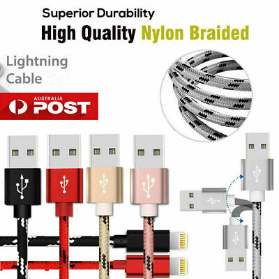 USB Lightning Charger Cable data cord Apple iPhone XR XS Max X 7 8 6 11 Pro iPad 4