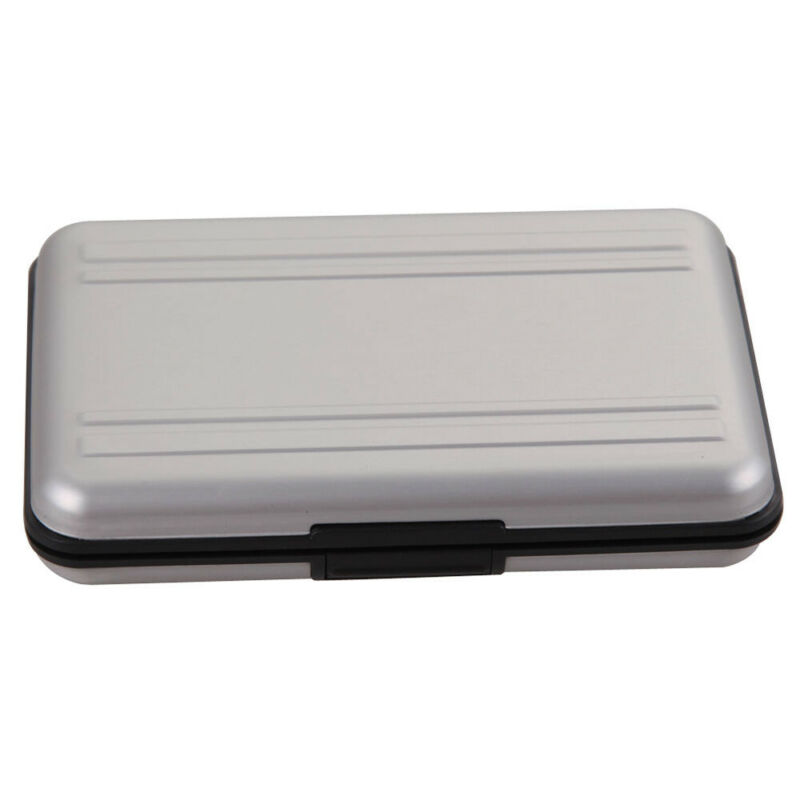 8 Slots Micro SDHC SD Memory Card Protecter Aluminum Carrying Case Holder 5