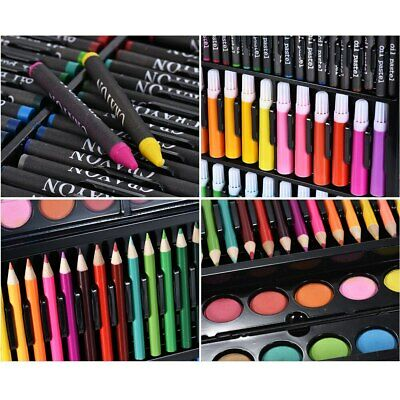 NEW 168pc Art Set with Crayons Pastels Markers Pencils Paint Felt Tips with Case 4