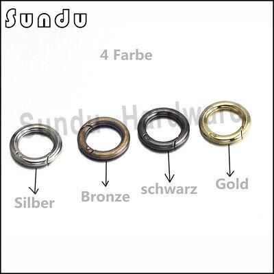 Rund Schnapphaken Karabinerhaken Verbinder Schlüssel Ring 15-50 mm 1 bis100Stück 3