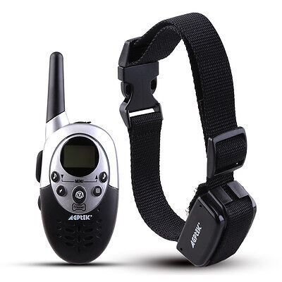 1000Yard Waterproof Shock Vibrate Remote Training Collar for Large Med Small Dog 4