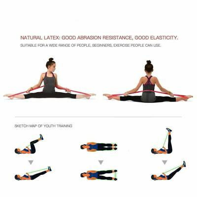 Heavy Duty Resistance Bands Loop Exercise Sport Fitness Tube Home Yoga Gym Latex 2