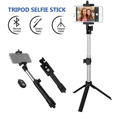 Unipod Selfie Stick Handheld Tripod Bluetooth Shutter For iPhone 11 Pro Samsung 2
