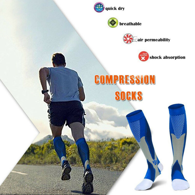 Medical Compression Socks Anti Fatigue Unisex Travel DVT Comfort Thigh Stockings 6