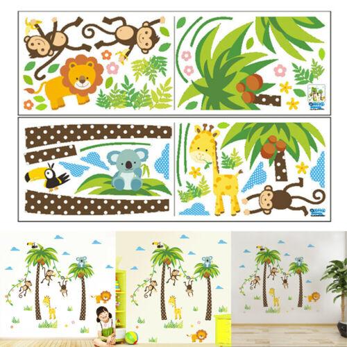 STICKERS MURAUX SINGE Animal Jungle Zoo Chambre de bébé Art Decal Décor Chic
