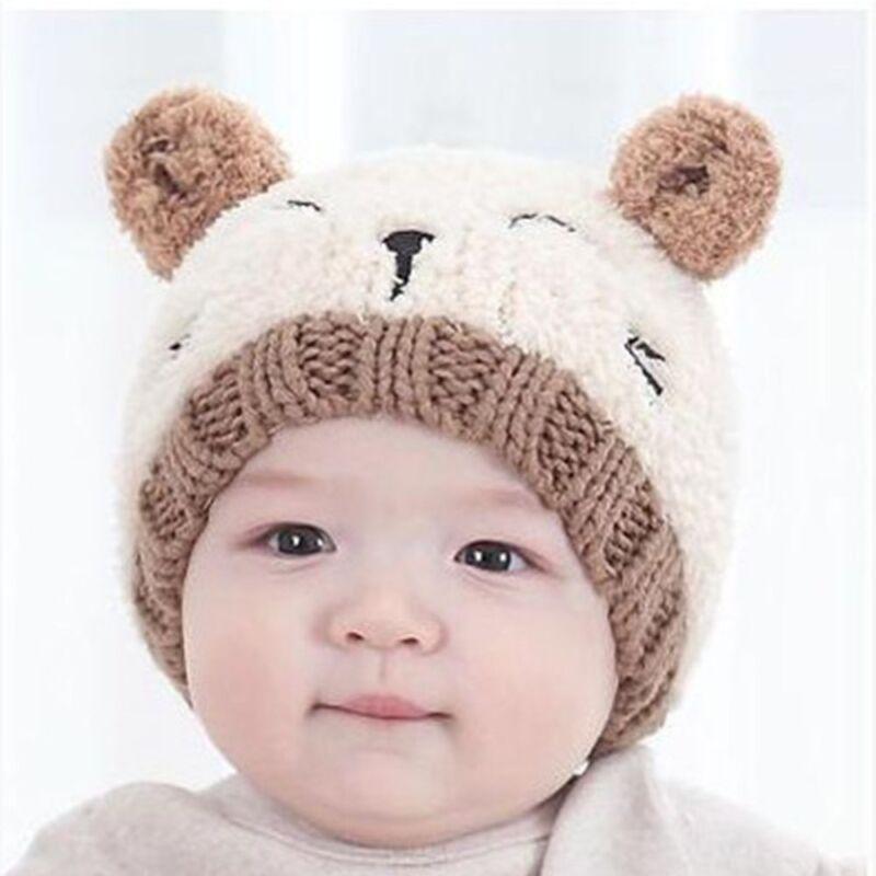 New Toddler Kids Girl Boy Baby Infant Winter Warm Crochet Knit Hat Beanie Cap