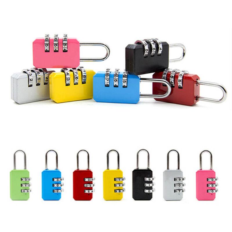 4 Digit Dial Combination Metal Code Password Lock  Suitcase Luggage Padlock 6