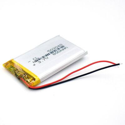 10Pcs 503048 3.7V 800 mAh Battery Rechargeable Li-Polymer LiPo for GPS Bluetooth 7