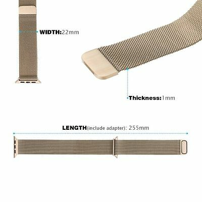 Magnetic Milanese watch Band iWatch Strap for Apple Watch Sport Series 4 3 2 1 4