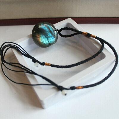 Delicate Natural Labradorite Pendant Crystal Necklace Healing Stone Necklace 10