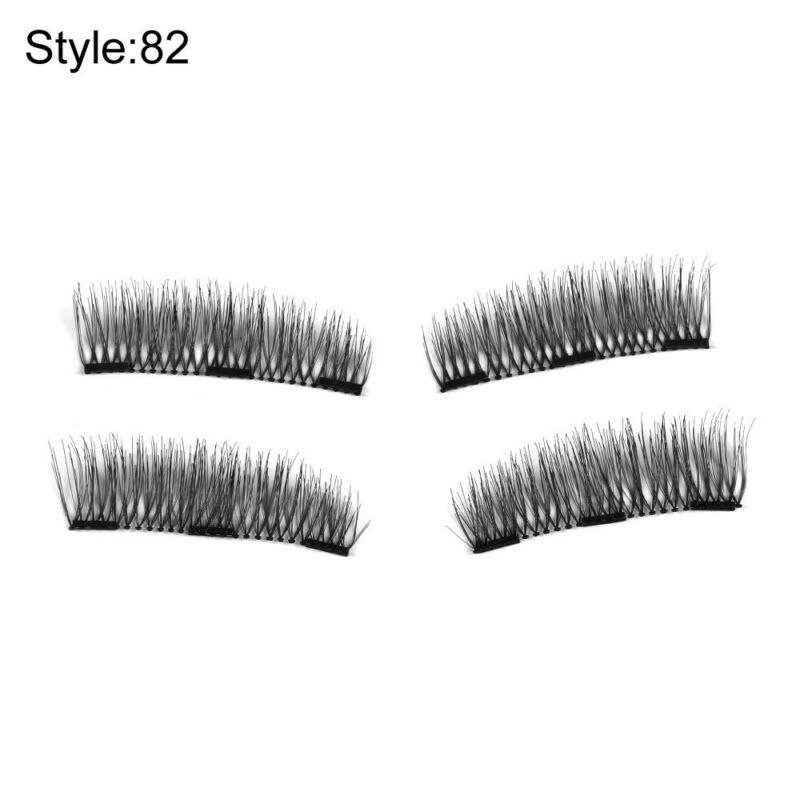 ae57cf53dcf 9 of 12 Glue-free Triple Magnetic False Eyelashes Natural Thick Cross Long  Lashes 4 Pcs