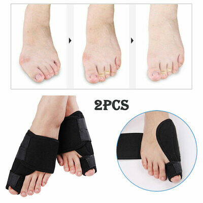 2x Toe Bunion Splint Straightener Corrector Hallux Valgus Gout Pain Foot Brace 6