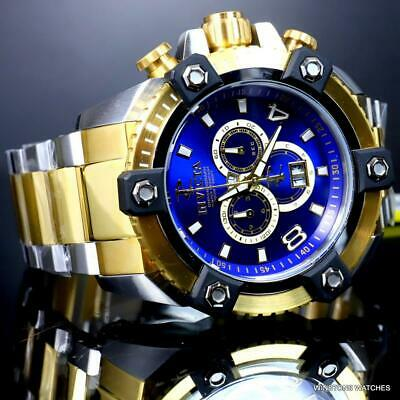 Invicta Reserve Grand Octane Arsenal 2 Tone Steel 63mm Swiss Mvt Blue Watch New 9