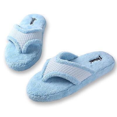 Women Plush Fuzzy Thong Spa Slippers Cozy Flip Flops House Shoes Size 6 7 8 9 10 2