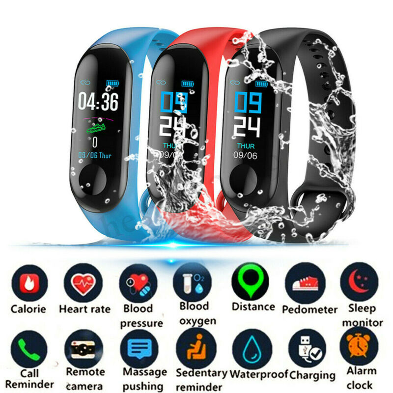 For iOS Android Smart Watch Blood Pressure Heart Rate Monitor Bracelet Wristband 2