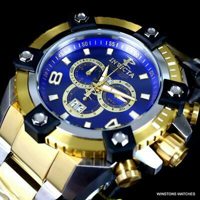 Invicta Reserve Grand Octane Arsenal 2 Tone Steel 63mm Swiss Mvt Blue Watch New 12