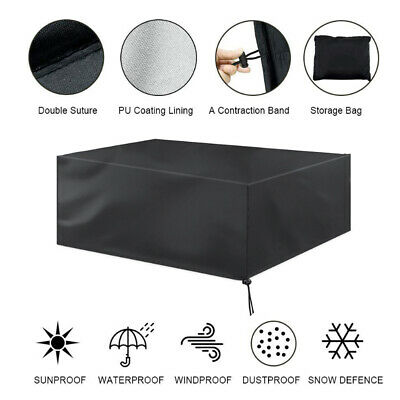 Extra Large Garden Rattan Outdoor Furniture Cover Patio Table Protection UKSTOCK 9