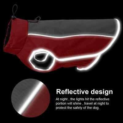 Dog Winter Coat Waterproof Pet Reflective Fleece Clothes Jacket French Bulldog 3