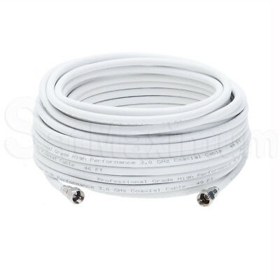 Coaxial Antenna Cable Extension Coax HDTV Wire Double Shielded Patch Cord - LOT 7