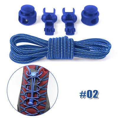 Shoe Laces Unsiex Adults Kids Elastic No Tie Locking Shoelaces Sports Sneaker AU 9