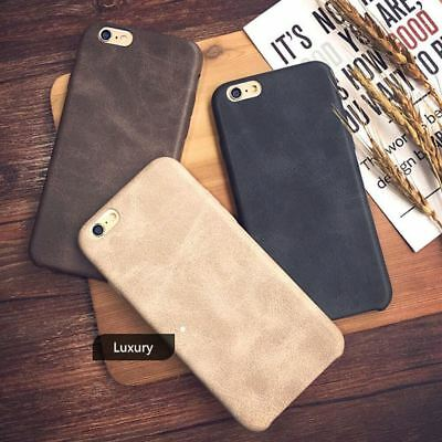 Genuine Original PU Leather Thin Slim Case Cover Apple iPhone 10 X 8 7 Plus 6s 5 8